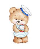 Süße Teddybär Matrose