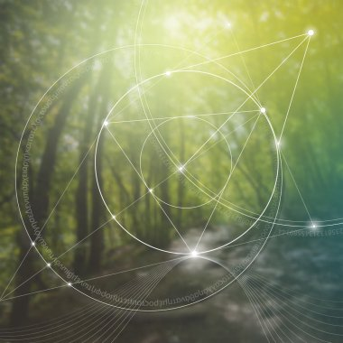 Sacred geometry. Mathematics, nature, and spirituality in nature. The formula of nature.
