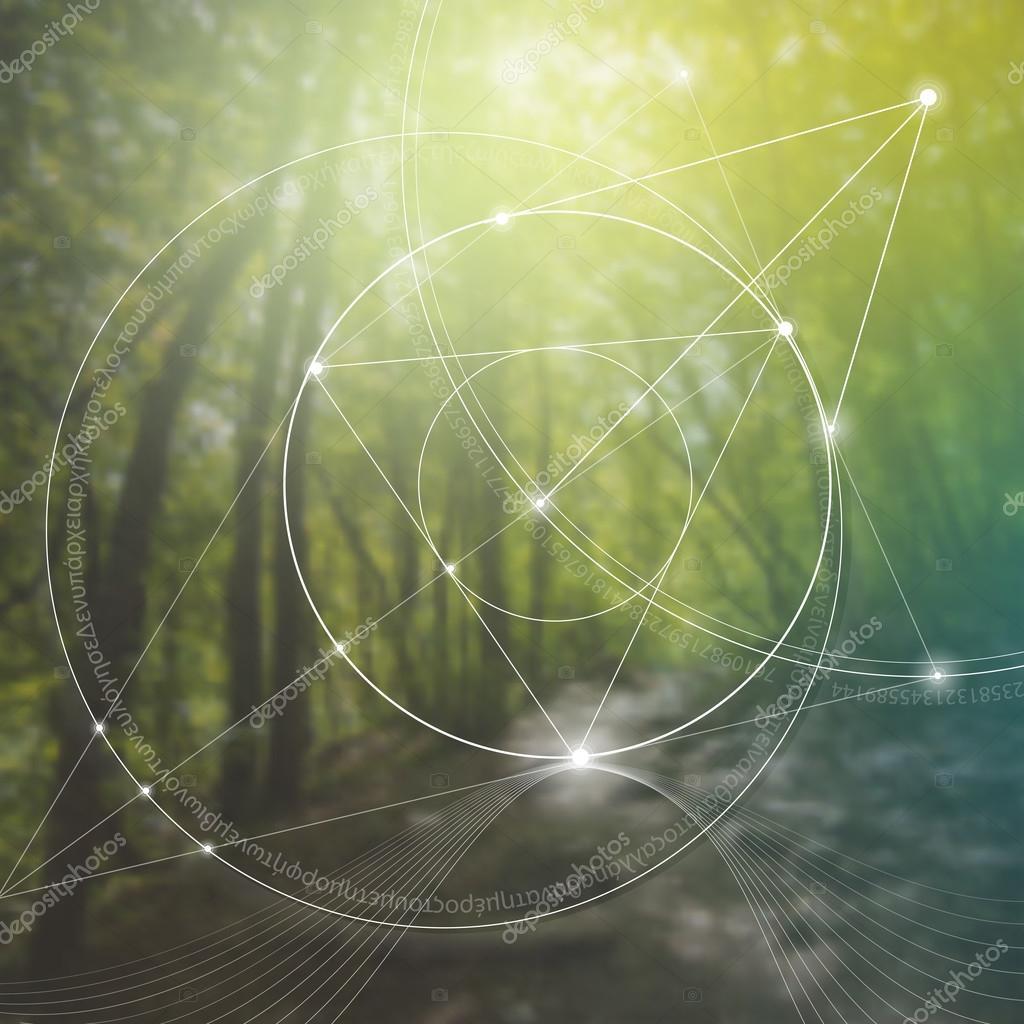 Sacred geometry. Mathematics, nature, and spirituality in nature. The formula of nature.