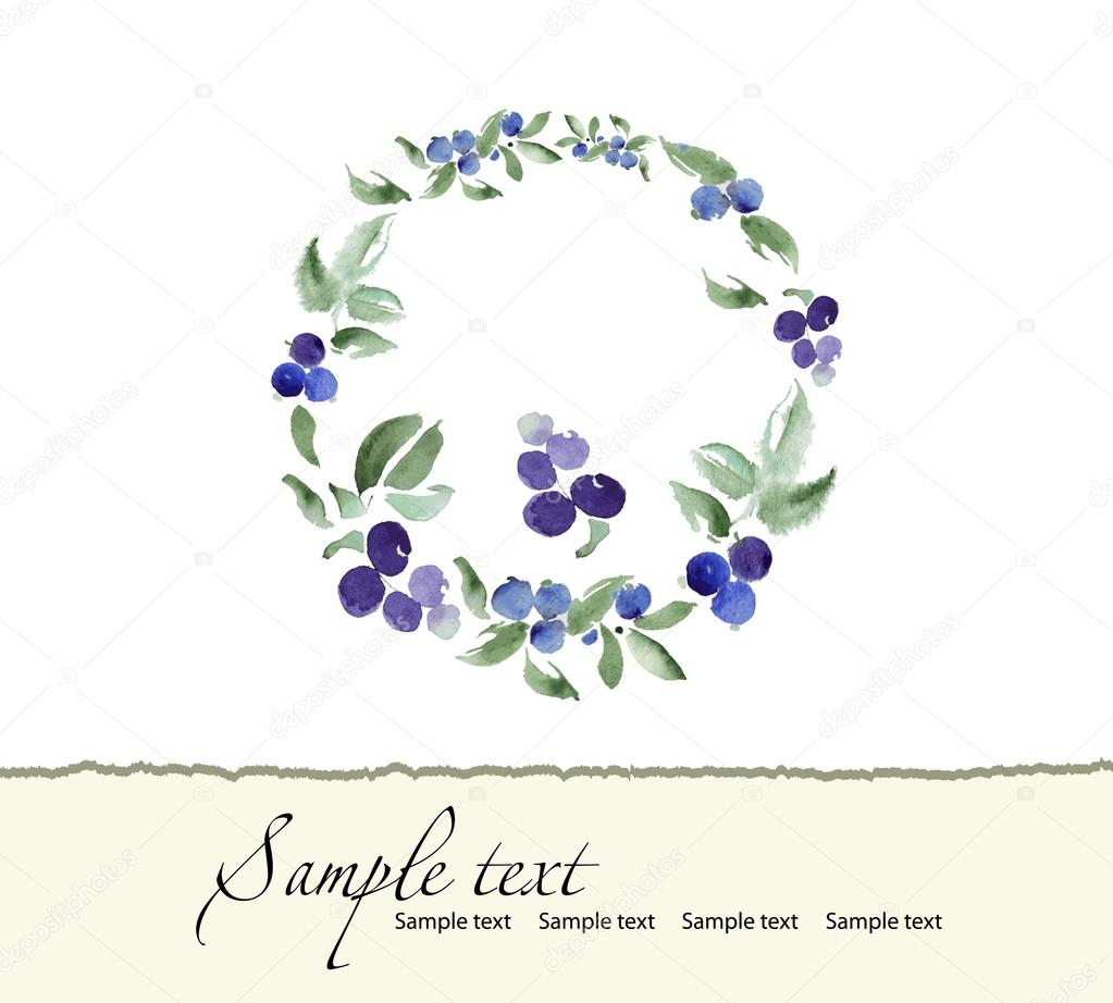 Hand drawn  of romantic floral invitation. Vector watercolor.   Wedding, marriage, bridal, birthday.