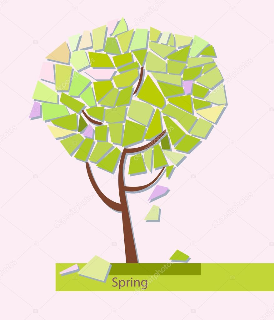 Abstract colorful tree Geometrical. Vector illustration — Stock ...