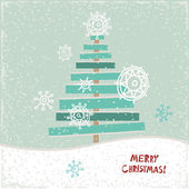 Creative paper Christmas tree. Vector Illustration.