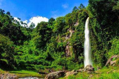 Big Beautiful nature Waterfall in Bandung Indonesia