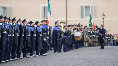 ROME, ITALY - FEBRUARY 22, 2015: Change of guards at the Quirinale Palace in Rome