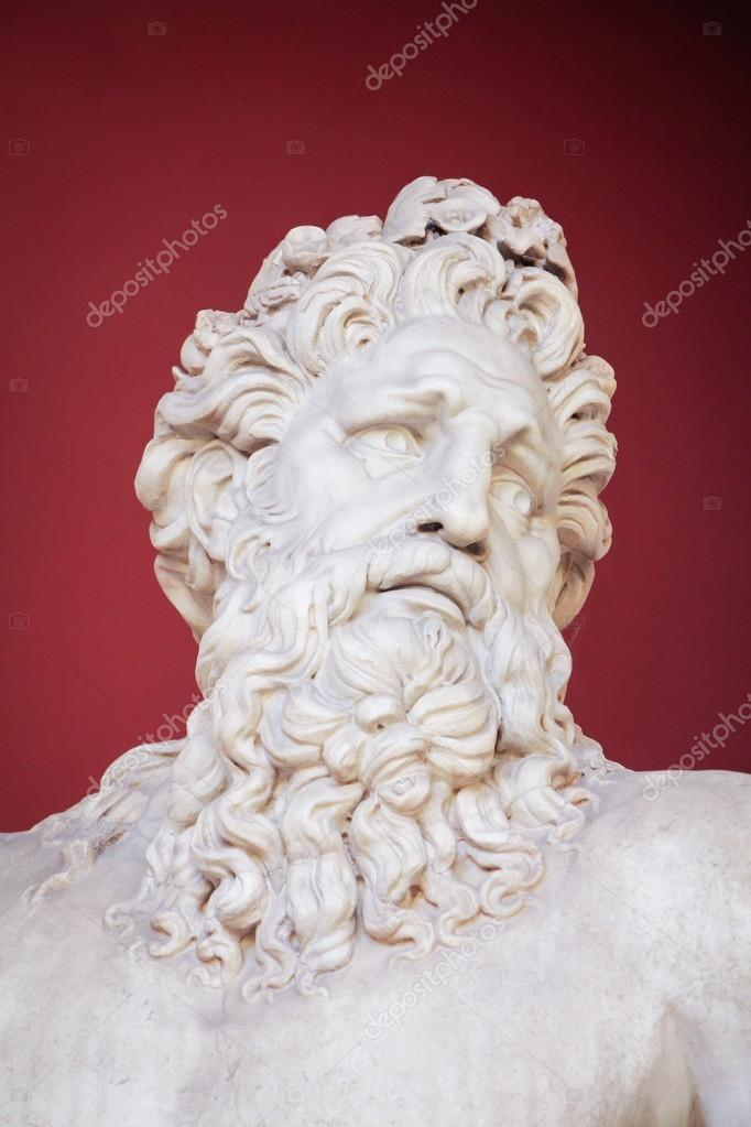 VATICAN - FEBRUARY 23, 2015: Ancient bust of Zeus in the Vatican Museum