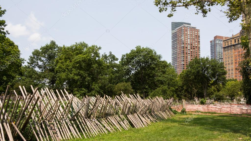 NEW YORK CITY - JULY 29, 2014: Educaitonal Battery Urban Farm project
