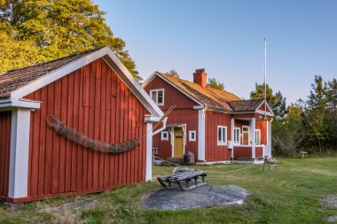 Old Folk school on the island Harstena in Sweden, principally kn