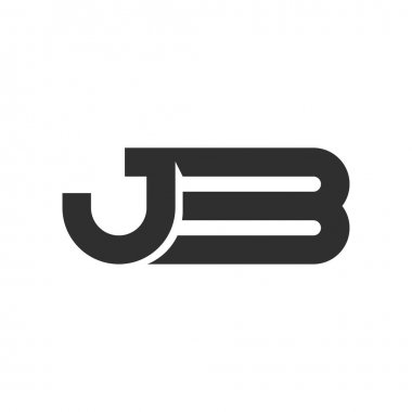 Initial letter bj logo or jb logo vector design template icon