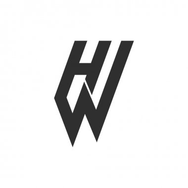 Initial letter wh logo or hw logo vector design template icon