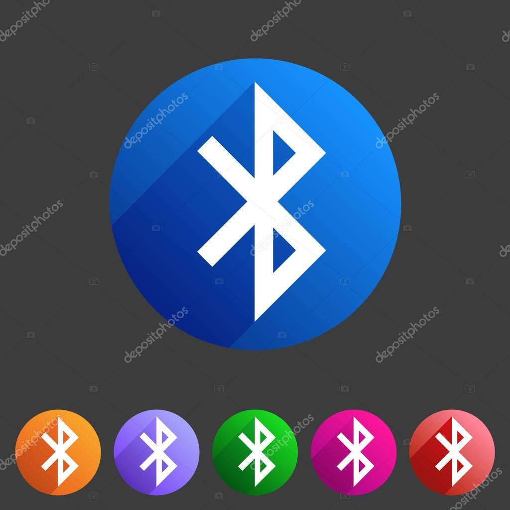 Bluetooth Connection Icon Flat Web Sign Symbol Logo Label Stock