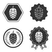 Chmelové pivo řemesla znak symbol popisku