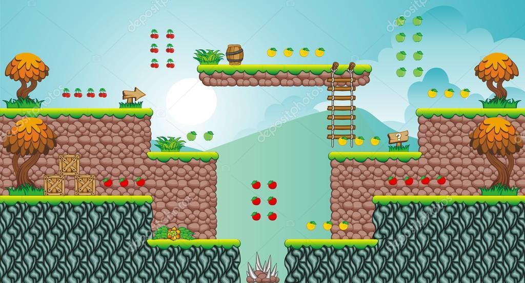 Tile set platform for game