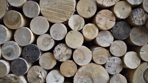 Hnutí z pohledu podél zásobník dřeva. Rozlišení - 4k