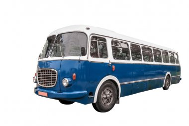 Old bus. Clipping path included.
