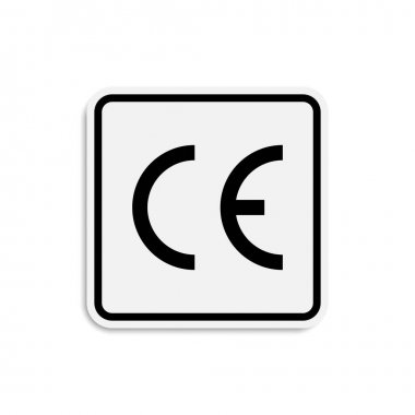 Product packaging symbol CE. vector illustration icon