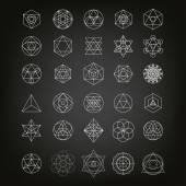 Heilige Geometrie abstrakter Hintergrund