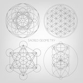 Fotografie Sacred geometry abstract background