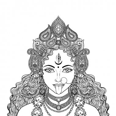 Indian Hindi goddess Kali.