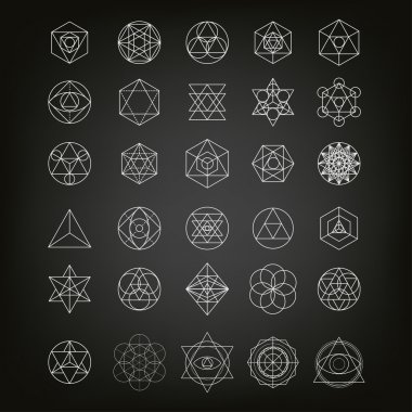 Sacred geometry abstract background