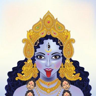 Indian Hindi goddess Kali.