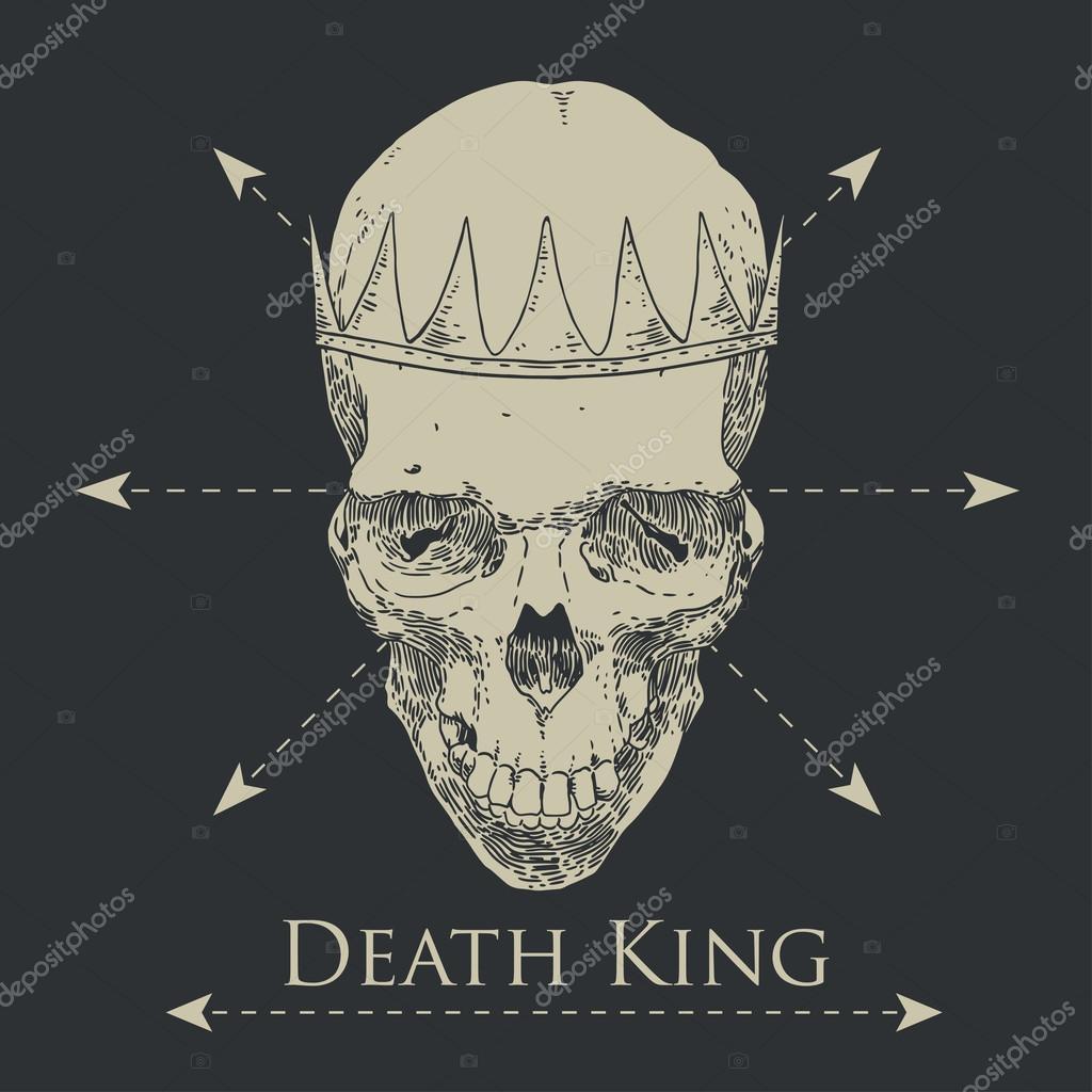 Le Roi Defunt Crane De Croquis Dessine Main Image Vectorielle