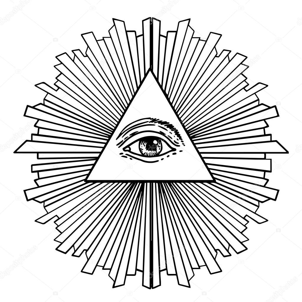 All seeing eye inside delta triangle pyramid stock vector new world order eye of providence hand drawn alchemy religion spirituality occultism isolated vector illustration conspiracy theory masonic symbol biocorpaavc Gallery