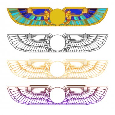 Egypt Sun Disk set