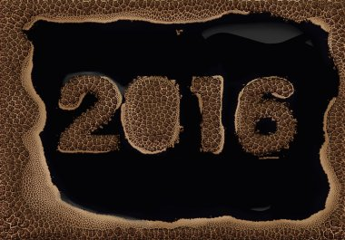 Coffee foam message about the 2016 year