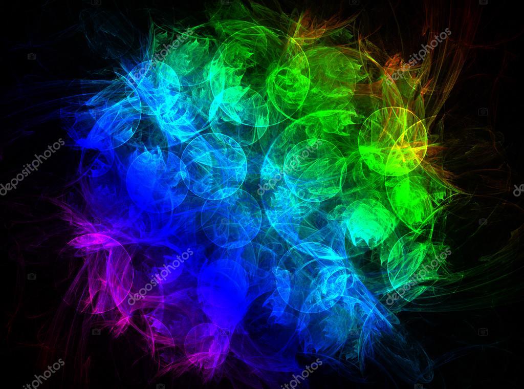 Shiny Colorful Fractal Mandala Digital Artwork стоковое