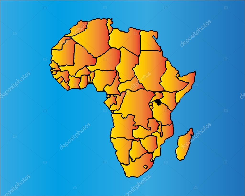 Map of africa the african continent with separable borders map of africa the african continent with separable borders stock vector 86444524 gumiabroncs Choice Image