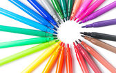 colorful of color pen isolated, topview