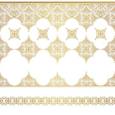 set of line art frames, seamless border.