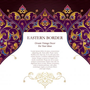 ornate card in Eastern style.