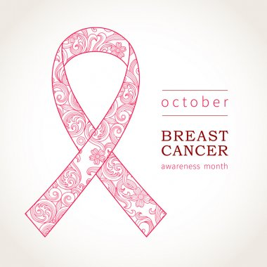 Symbol of October, Breast Cancer Awareness.