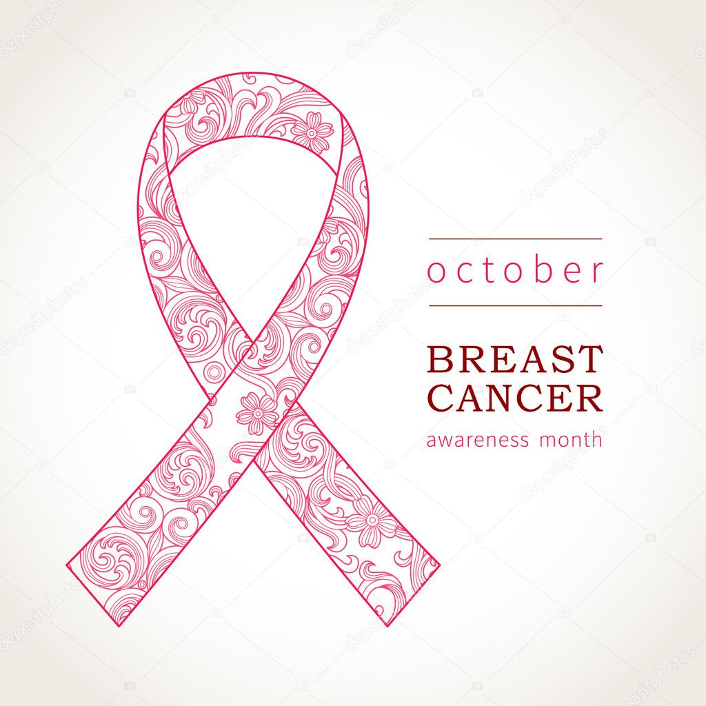 Symbol Of October Breast Cancer Awareness Stock Vector