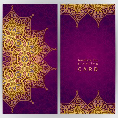 Cards in oriental style.