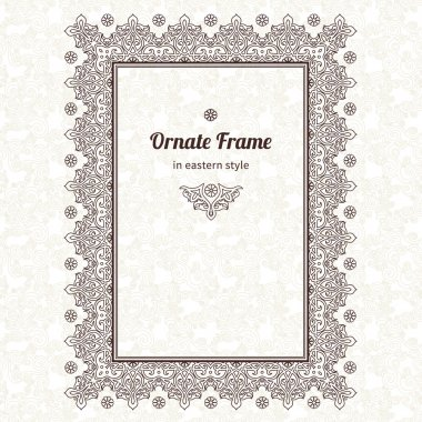 Frame in Eastern style.
