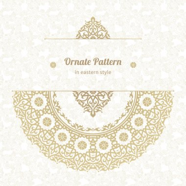 Lace pattern in Eastern style