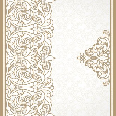 Floral border in Victorian style.