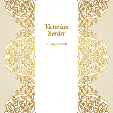 Seamless border in Victorian style.