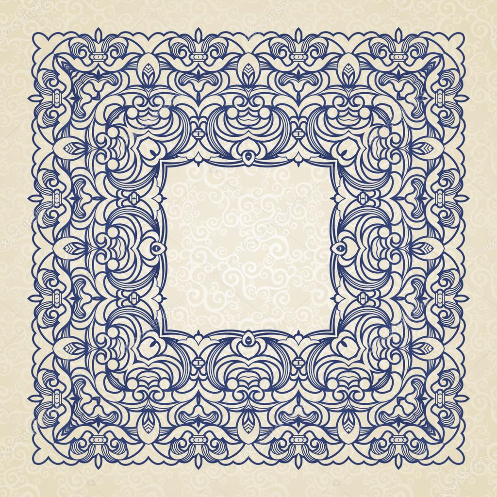 Filigree vector frame in Victorian style. — Stock Vector ...