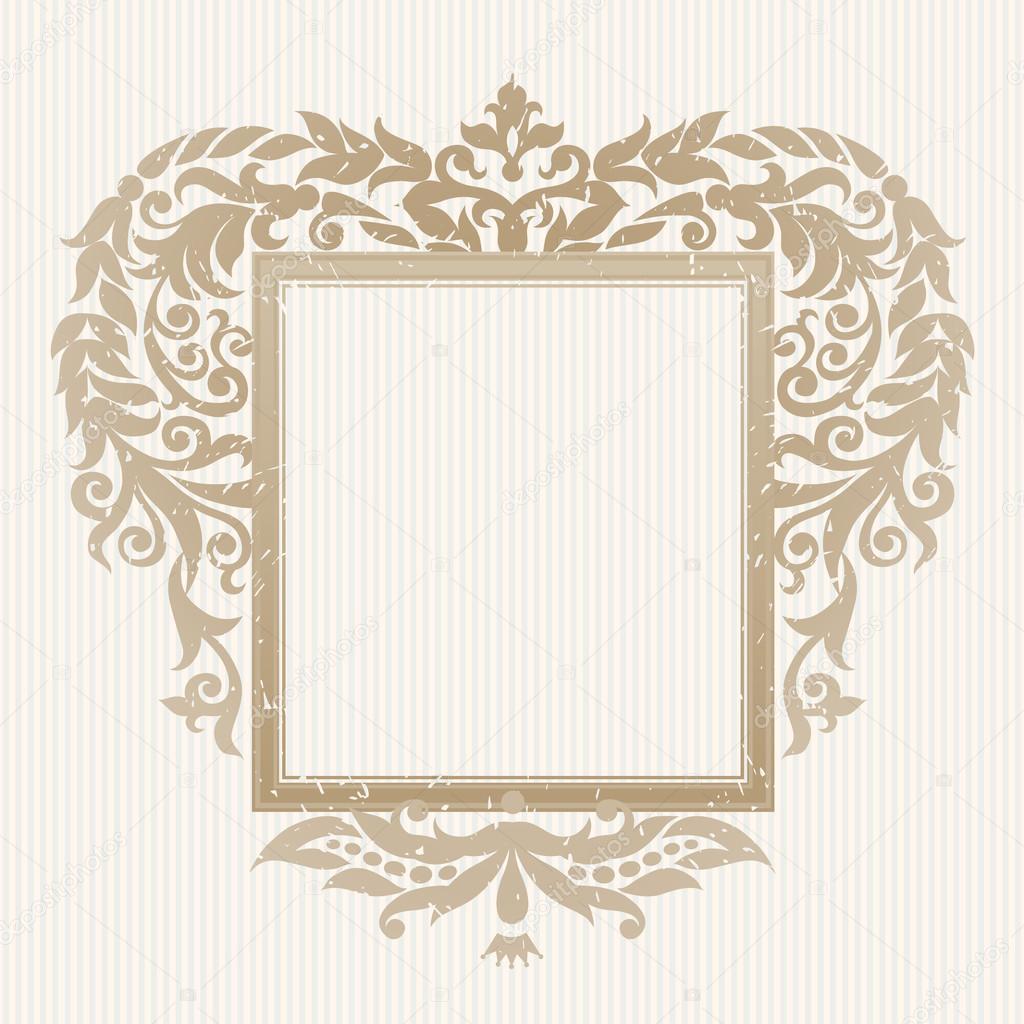 Marco adornado en estilo victoriano — Archivo Imágenes Vectoriales ...