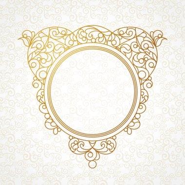 art frame in Eastern style.