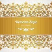 Vektorové zdobené bezešvé hranice ve viktoriánském stylu