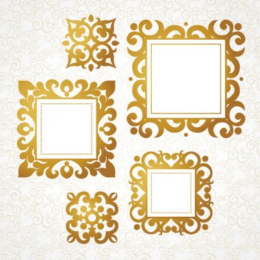 decorative frames in Victorian style.
