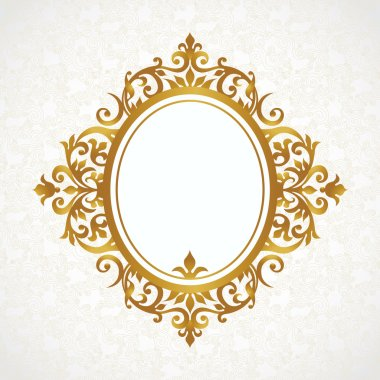 Elegant decorative frame in Victorian style. stock vector
