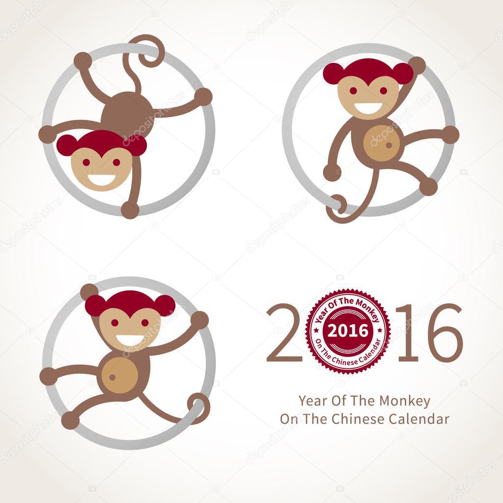 Monkey, symbol of 2016 in Chinese calendar.