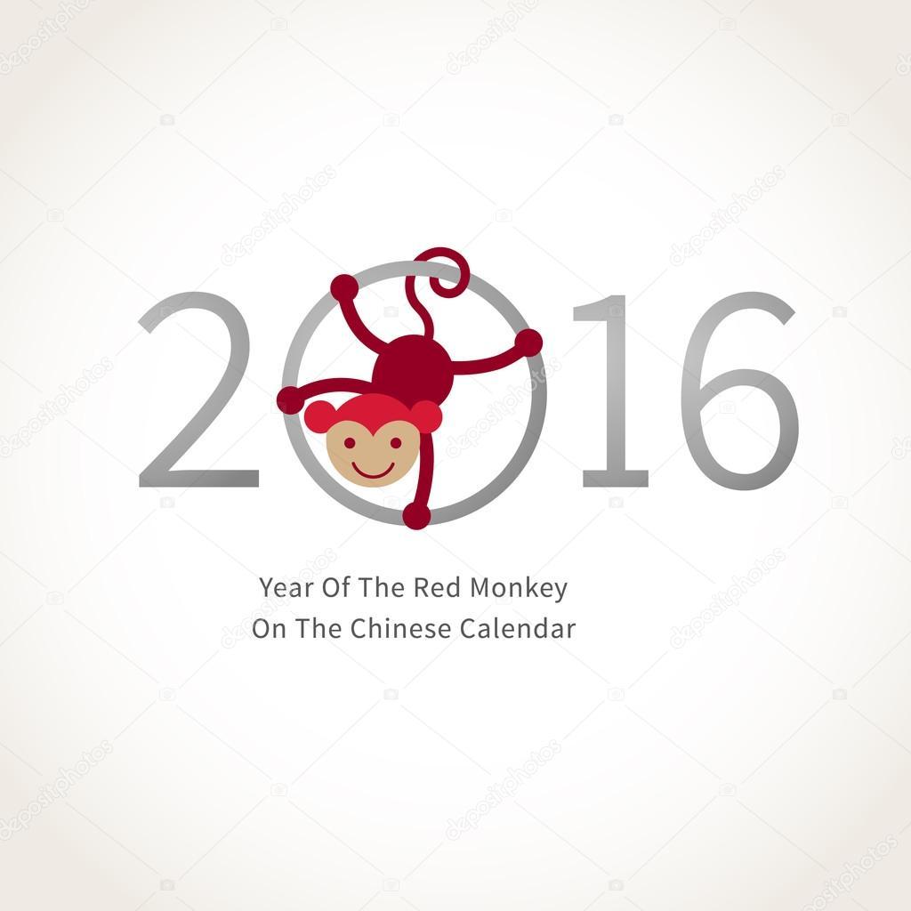 Red smiling Monkey Symbol