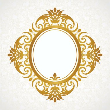 Decorative frame in Victorian style. Elegant element for template design stock vector