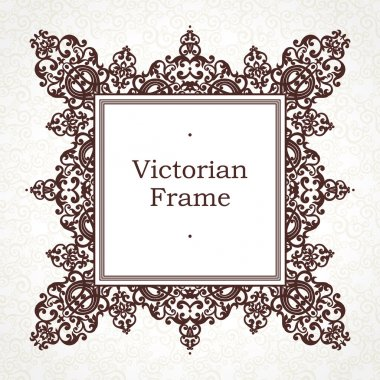 frame in Victorian style.